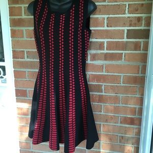 Aryeh Black and red dress